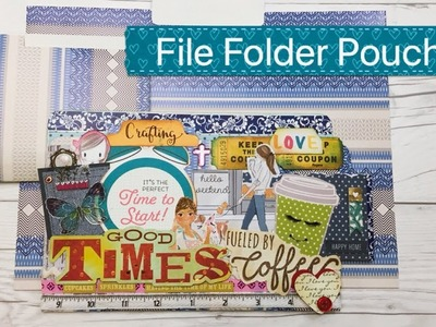 DIY File Folder Pouch for Paper Scraps and Ephemera - Tutorial