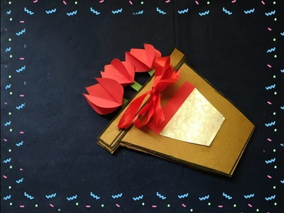 DIY:- Greeting Card For Father's Day From Waste Carry Bag