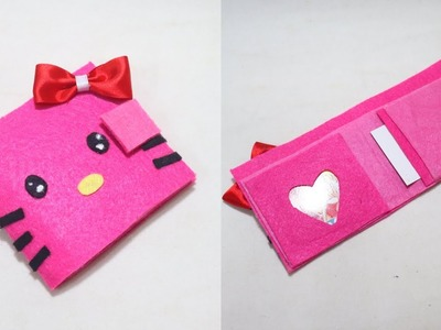 DIY Hello kitty Wallet  | NO SEW Tutorial | How to make Wallet.No sew wallet. DIY Money Bag