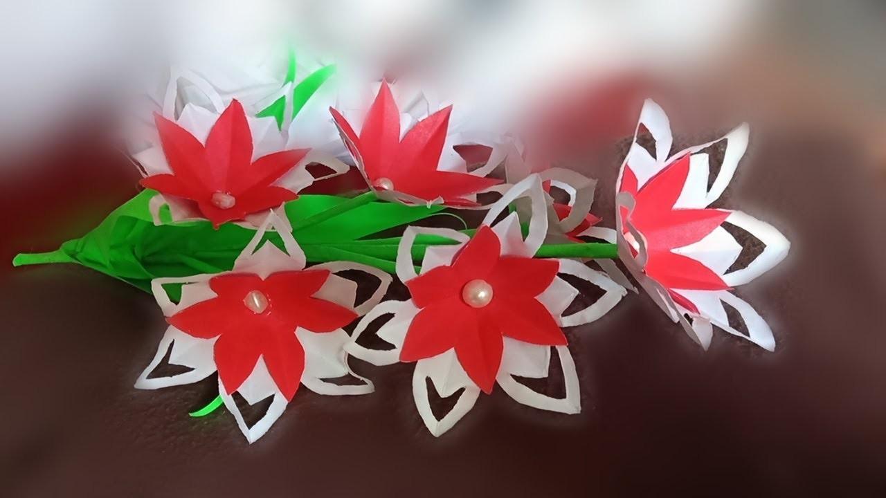 Diy paper flower stick. paper flower stick diy. paper flower. paper crafts all