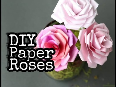 DIY PAPER ROSES ????•by Madiha Laiq• easiest way to make roses