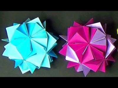 DIY PAPER STAR BALLS # PAPER CRAFT IDEAS