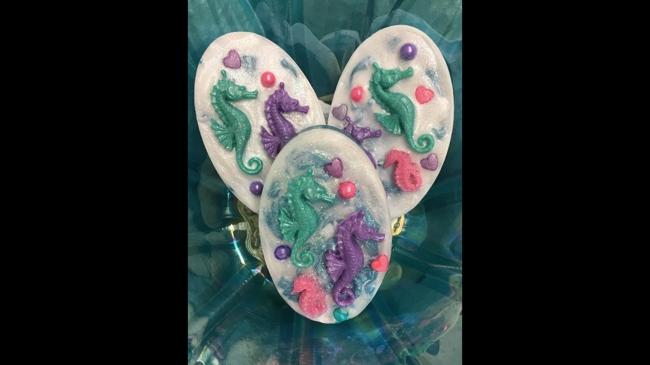 DIY Sea Horse Family Melt and Pour Soap Scented in Tropical Vacation