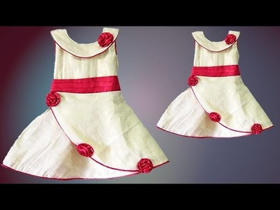 DIY Simple Yet Very Cute Yoke Baby Frock Full Tutorial