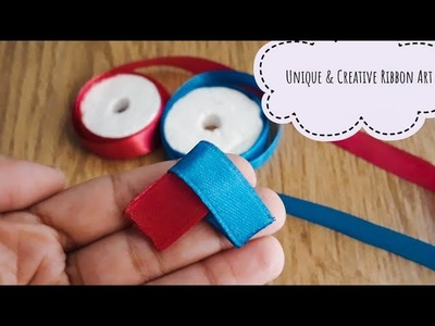 DIY Unique & Creative Ribbon Art|Cool ideas with Ribbon|Ribbon Flowers|Ribbon Crafts|Quicky Crafts
