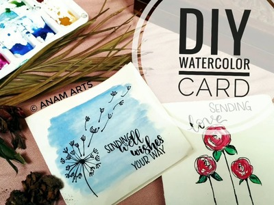 DIY WATERCOLOR CARD