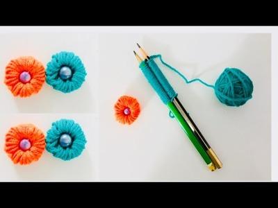 DIY woollen flower tutorial. amazing flowers from wool. wool craft
