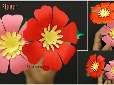 Easy Paper Flowers Making Tutorial - DIY Paper Crafts