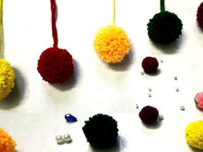 Easy to make Pom Pom. woolen ball. woolen crafts. Craft Tutorial