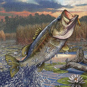 CRAFTS First Strike Bass Cross Stitch Pattern***LOOK***   ON SALE ONLY 2.95