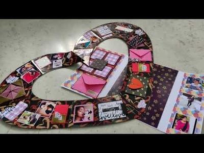 Giant Love Scrapbook ????| Giant Card | Big Love Card| craft world