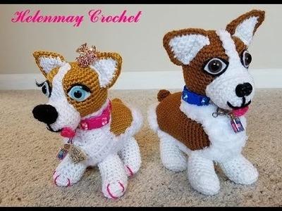 Helenmay Crochet Amigurumi Corgi Puppy Dog Part 1 DIY Video Tutorial