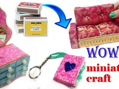 How to Make Miniature Crafts  Matchbox craft idea  Miniature Furniture For Dolls   DIY For Kids