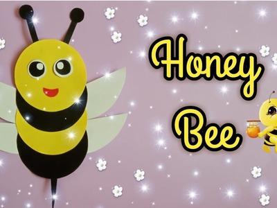 How to make Paper Honey Bee    DIY Paper Honey Bee    kids crafts
