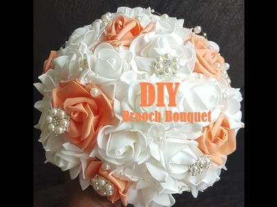 How to make Real Touch Roses Brooch Bridal Bouquet l DIY Tutorial l Easy Wedding Project