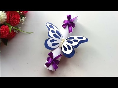 How to make Special Butterfly Birthday Card For Best Friend.DIY Gift Idea.