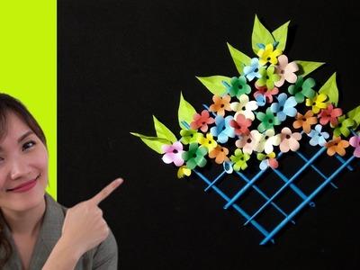Kaagaz ke Phool   Kagojer Ful   How to make DIY Paper Flower Wallmet   Tubelife