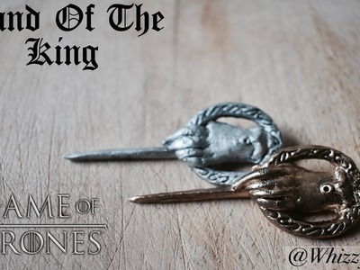 King's Hand Pin - Remembering Game Of Thrones. Clay Craft