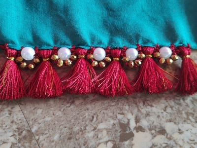 Krosha saree kuchu design | Latest crochet using saree kuchu design