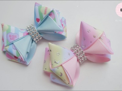 Laço Mini Metamorfosa ???? Ribbon Bow Tutorial #70 ???? DIY by Elysia Handmade