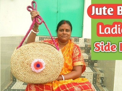 Ladies Side Bag using Jute Braid | DIY Jute Rope Bag | Jute craft idea for Women's