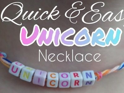 Make an Easy DIY Unicorn Necklace Tutorial