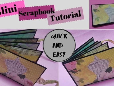 Mini Scrapbook Tutorial | How to make scrapbook base | DIY Crafts 2019