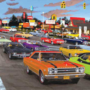 Muscle Car City Cross Stitch Pattern***LOOK***