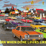 CRAFTS Muscle Car City Cross Stitch Pattern***LOOK***