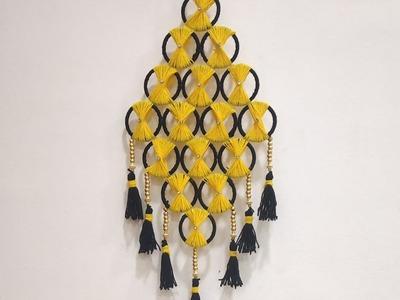 Old Bangles Reuse Idea Best Craft Idea. DIY Woolen And Bangles Wall Hanging Toran .