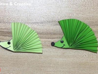 Origami Hedgehog   Hedgehog Paper Craft