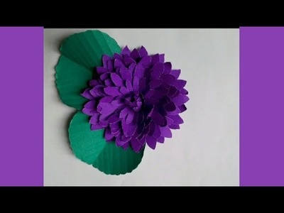 Paper craft. DIY paper flowers. how to make Beautiful door flower with paper. door flower