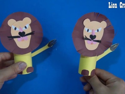 Paper Lion  Craft for Kids  || Diy easy paper Lion craft ideas