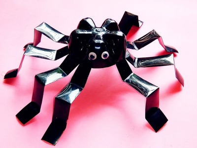 Plastic bottles craft idea |Best out of waste materials craft |spider making from plastic bottles