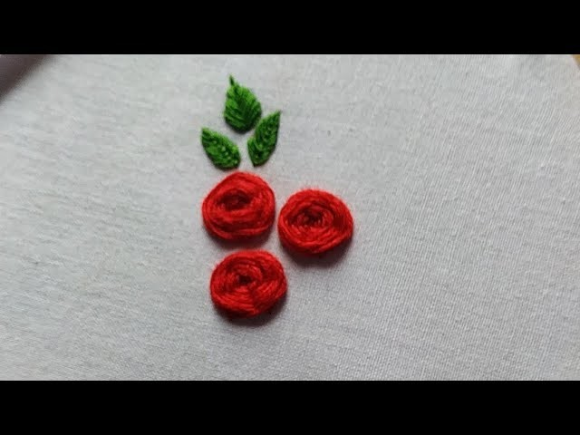 Rose design || easy flower design || hand embroidery || needle craft