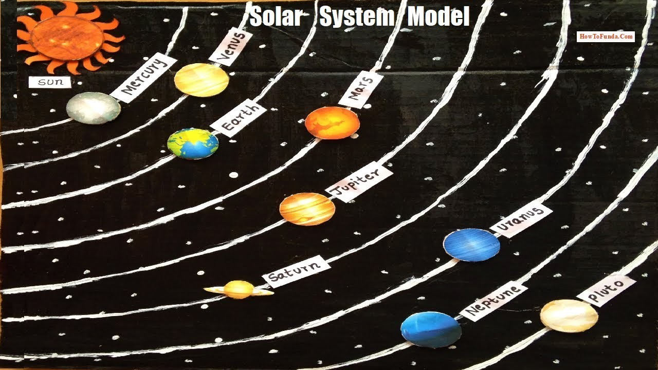 Solar system model making for school science exhibition