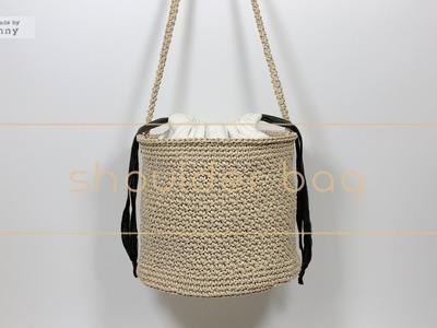 [코바늘] 원통숄더백 Crochet shoulder bag. Handmade by Sunny