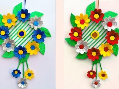 WOOLEN CRAFT!!!Wall Hanging Craft Idea. DIY Art and craft. ROOM DECORATION.Creative art