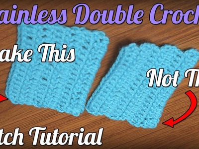 Chainless Starting Double Crochet. Standing Double Crochet Tutorial