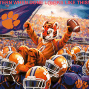 CRAFTS CLemson Tigers Stadium Cross Stitch Pattern***LOOK*** PREVIEW A SAMPLE OF MY PATTERNS DETAILS BELOW