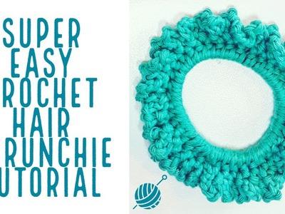 Crochet Hair Scrunchie Super Easy Tutorial for Beginners
