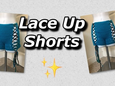 Crochet Lace Up Shorts