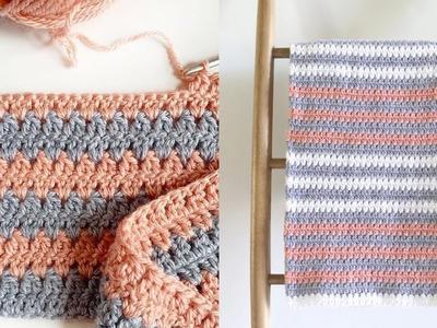 Crochet Mini Modern Granny Blanket