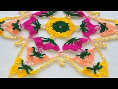 Crochet moti thalposh, woolen thalposh, thalposh pattern in hindi, #127,by||Santosh All Art ||