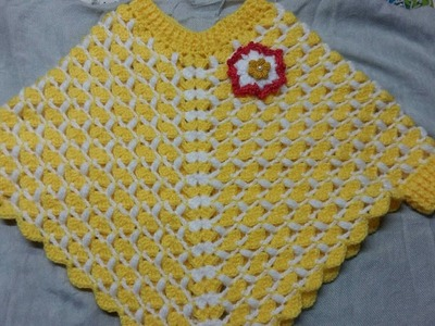 Crochet poncho for 1 to 2 yrs.