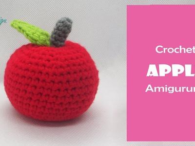 DIY Fruit Amigurumi | How to crochet an APPLE amigurumi  | AmiguWorld