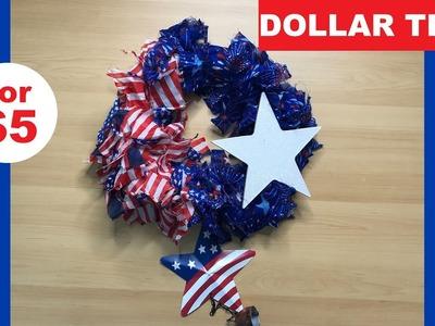 Dollar Tree DIY || 4th of July Wreath.