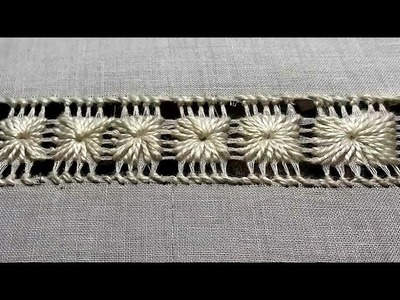 Drawn Thread Hand Embroidery: Easy Tarkashi Design | How to Draw the threads (Part 1)