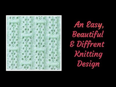 Easy & Beautiful Knitting Design for Cardigan.Top.Frock || बहुत ही आसान और सुन्दर बुनाई डिज़ाइन