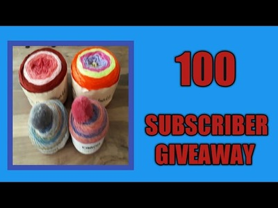 ENDED-100 SUBSCRIBER CROCHET GIVEAWAY